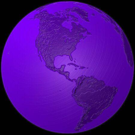 world - plasticized blue globe - America
