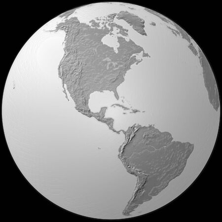 world - plasticized grey globe - America