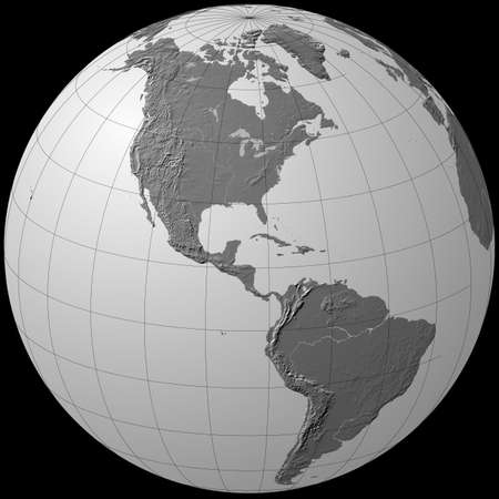 grey globe - america Stock Photo