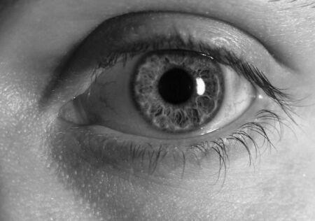 Black & white eye Stock Photo