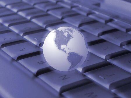 Keyboard & globe (blue)