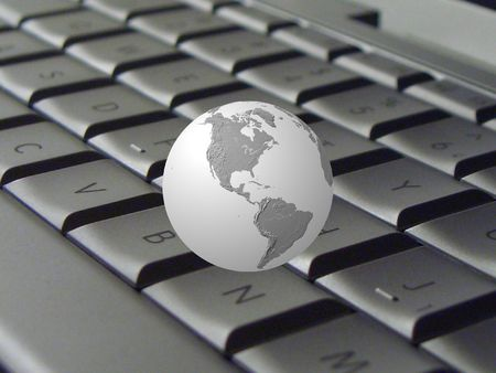 Keyboard & globe (grey)