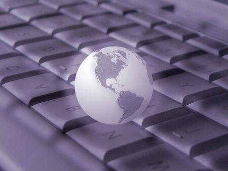 Keyboard & globe (violet)