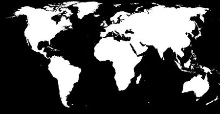 lost lake: White on black earth Stock Photo