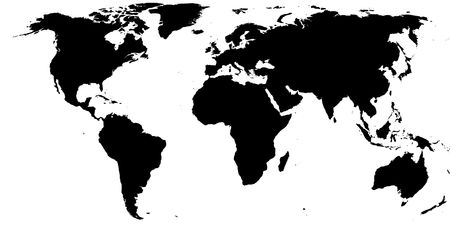 world ball: Black on white earth