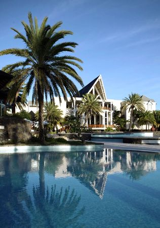 path to wealth: Executive house - modern american house with swimming pool