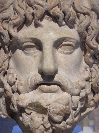 Ancient Roman Sculpture - face close up
