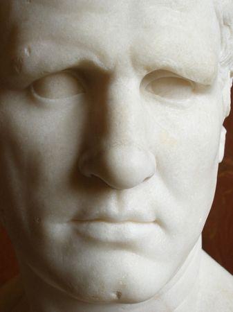 escultura romana: Ancient Roman Escultura - cara de cerca