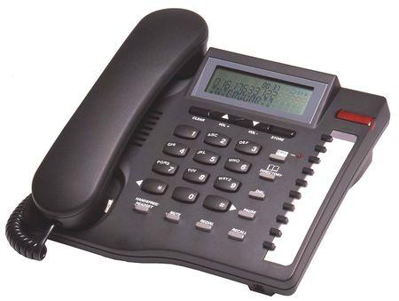 Black telephone with display
