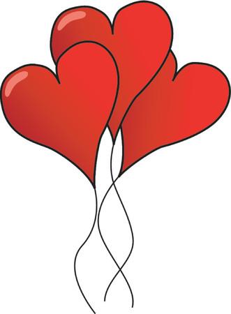 Valentine Card - Heart-ballons