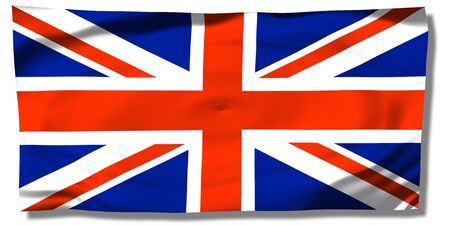 United Kingdom - wrinkled UK flag - Union Jack