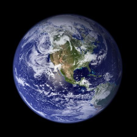 Earth from outer space - America Stock Photo