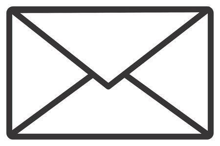 White envelope - computer generated illustration Stock fotó - 797766