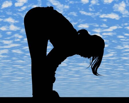 younglady: sportswoman - female athlete Stock Photo