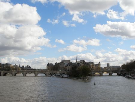 PARIS - Seine river in a spring sunny day Stock Photo - 814447