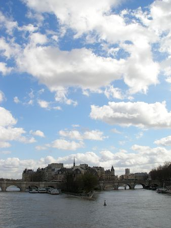PARIS - Seine river in a spring sunny day Stock Photo - 814446