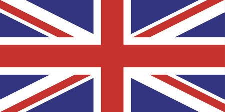 wave tourist: United Kingdom - Union Jack - Simple UK flag - Vector