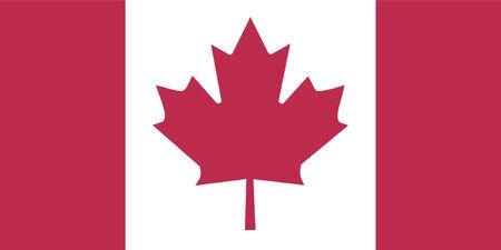 флагшток: Canadian flag - floating free flag - VECTOR