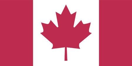 flagpoles: Canadian flag - floating free flag - VECTOR