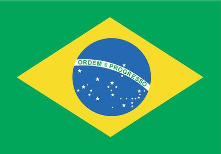 bandera carrera: Brasil - simple bandera brasile�a - Vector Vectores