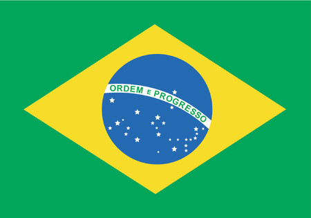 janeiro: Brazil - simple brazilian flag - Vector