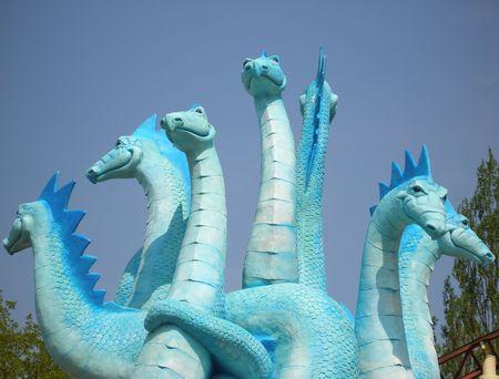 monster - a many-headed serpent - hydra   Stock Photo