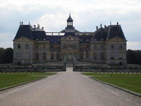 nobleness: Chateau of Vaux le Vicomte - France Stock Photo