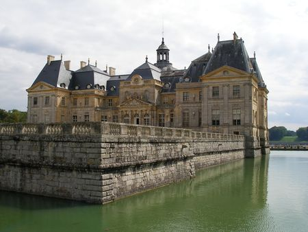 aristocracy: Chateau of Vaux le Vicomte - France Stock Photo