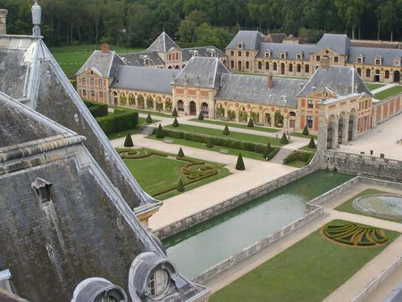 Chateau of Vaux le Vicomte - France Stock Photo