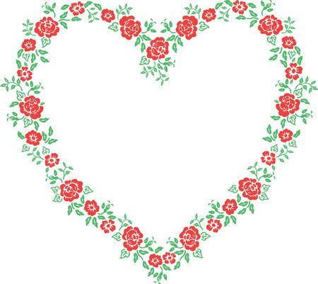 Valentine Frame - Floral Heart