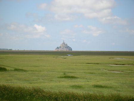 Mont Saint Michel and its bay - France Stock Photo