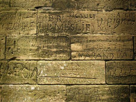 Ancient Graffiti - Abbaye de Hambye, France