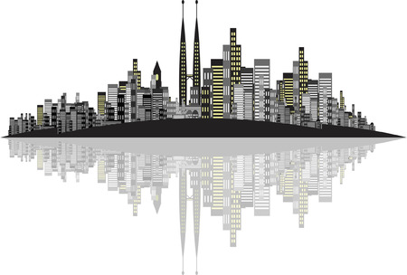 Vector Skyline Background Illustration