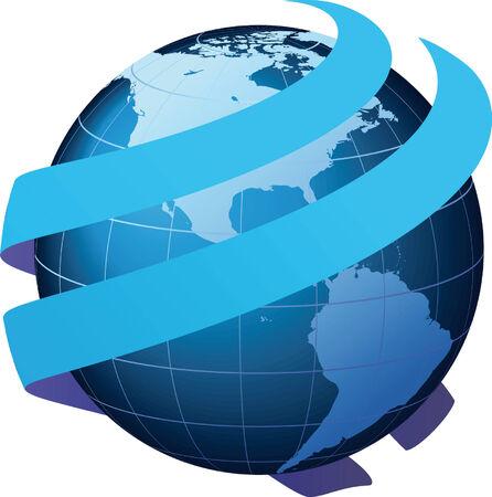 Global communication - Communication, Business and Logistics Illustration