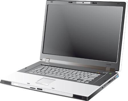 Grey Laptop  Illustration