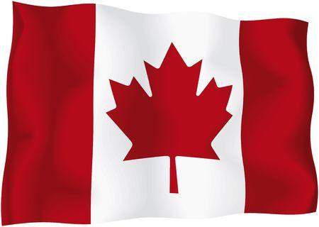 Canada - Canadian flag - Canadian wavy flag isolated on white background Stock Photo