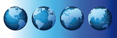 World - Global Set Series  Illustration