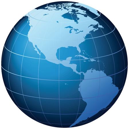 World Globe - Illustration World Globe  Stock Vector - 6678378