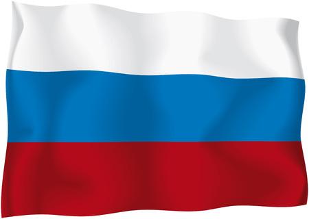 russian flag: Russia - Russian flag Illustration
