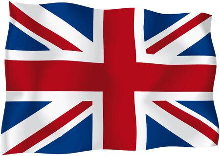 bandiera inglese: Regno Unito - UK bandiera Vettoriali
