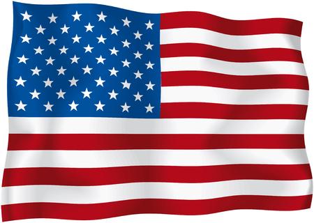 united nations: USA - bandera americana  Vectores
