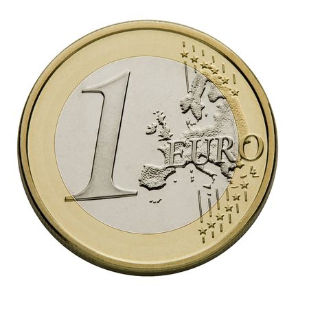 free stock photos: One Euro Coin - European Union Currency