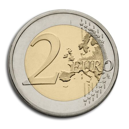 golden coins: Two Euro Coin - European Union Currency