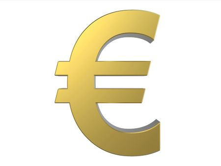 1 euro: Euro Golden Symbol - European Union Currency