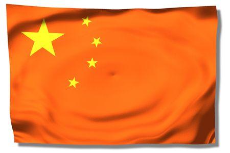 China - Floating chinese flag Redakční