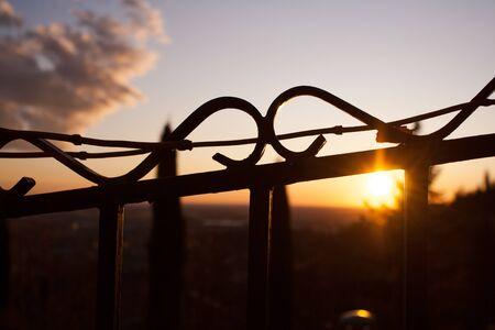 Golden light through the fence