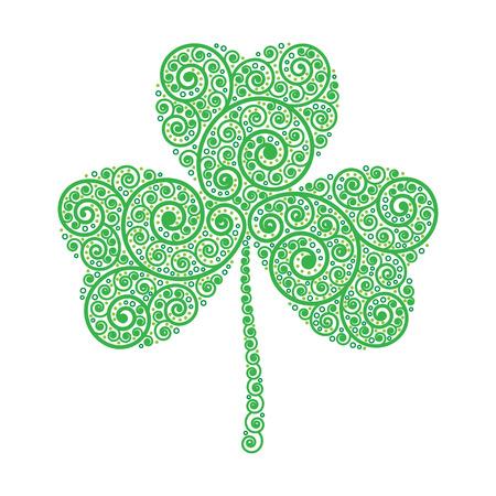 trinity: 17 March Saint Patricks Day and Trinity Green Shamrock