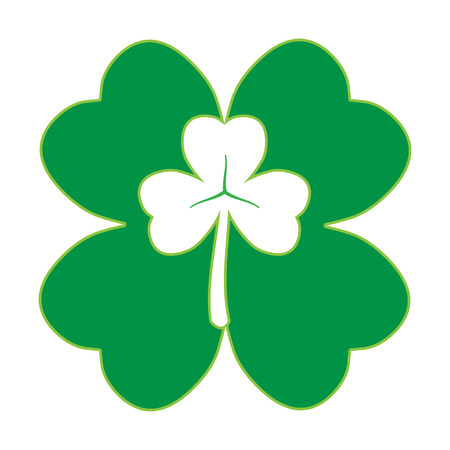 march 17: 17 March Saint Patrick�s Day and Trinity Green Shamrock  Illustration
