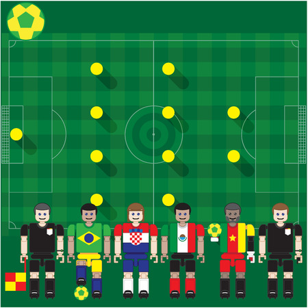assign: Group stage match The opposite of competition in the group and the position of the player  Can   assign Team name and where Racing was straight over the top  Illustration