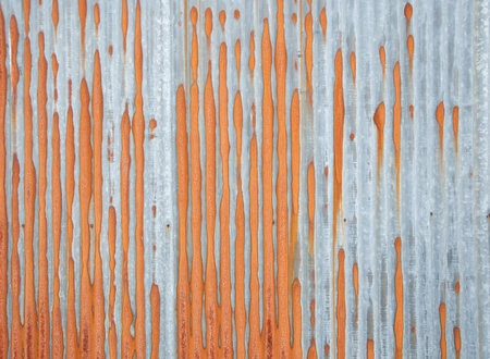 Rusty corrugated metal sheet photo